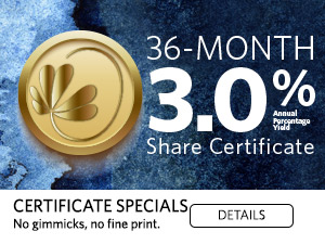 36-Month: 3.0% APY Share Certificate