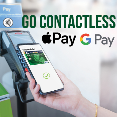 Go Contactless. Google Pay. Apple Pay.