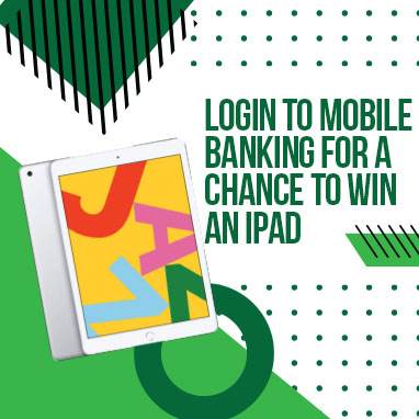 Login to Mobile Banking for a chance to win an iPad